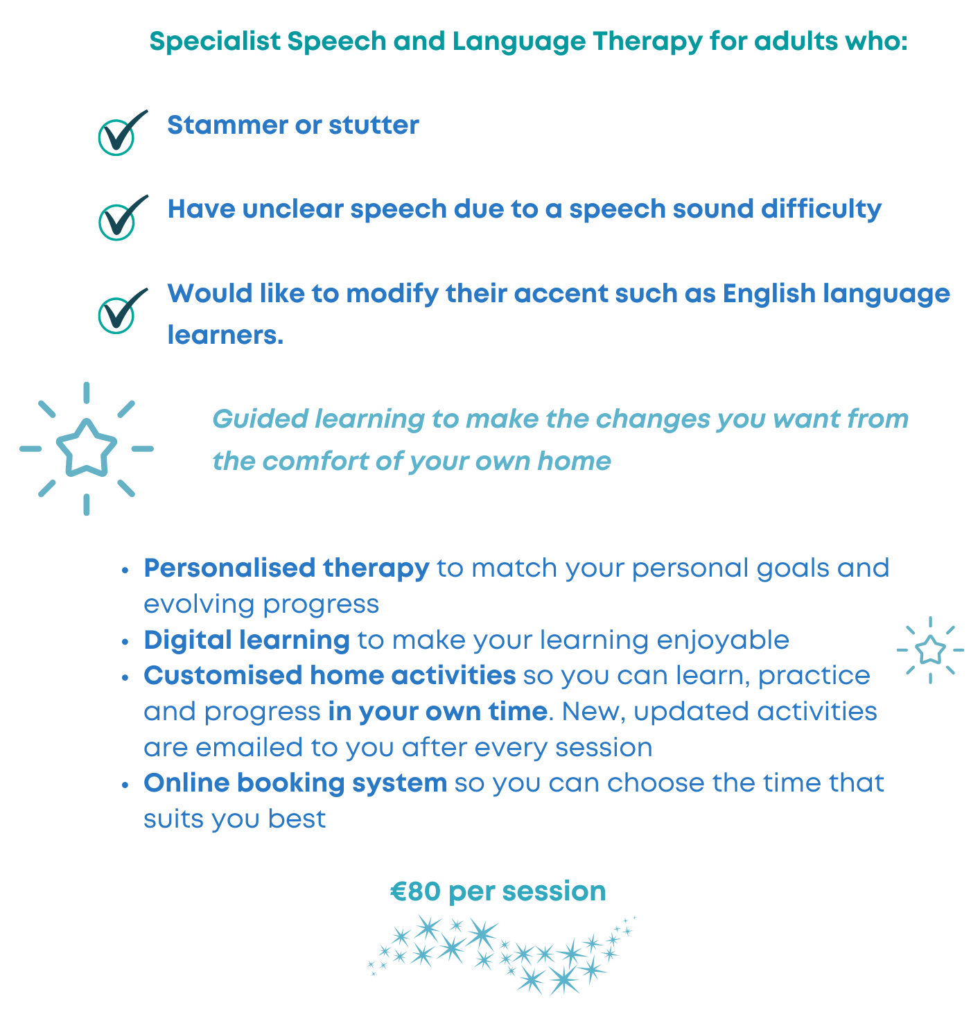 private speech therapy adults stammer unclear speech